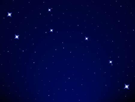 Ilustración de Little Dipper on the starry sky - Imagen libre de derechos