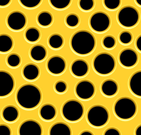 Seamless abstract pattern of the yellow perforated surface