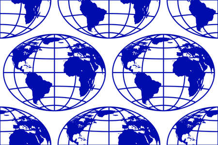 Seamless pattern of the abstract globes. Elements of this image furnished by NASA. Source of map:  http://visibleearth.nasa.gov/view.php?id=74518