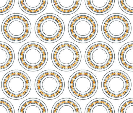 Seamless pattern of the ball bearings