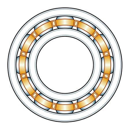 Illustration of the ball bearing
