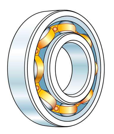 Illustration of the volumetric ball bearing design