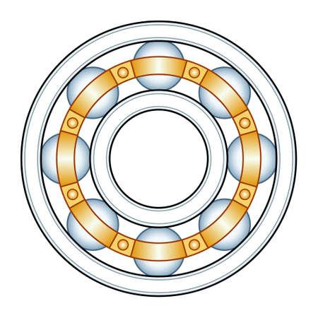 Illustration of the ball bearing design