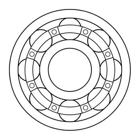 Illustration of the contour ball bearing design