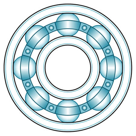Illustration of the ball bearing front view design