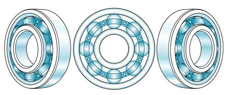 Illustration of the ball bearing view set