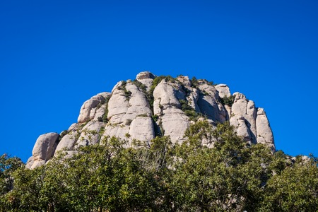 Photo for Montserrat monastery on mountain in Barcelona, Catalonia. - Royalty Free Image