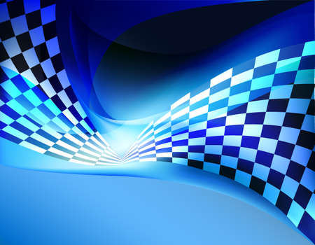 Illustration pour racing background checkered flag wawing - image libre de droit