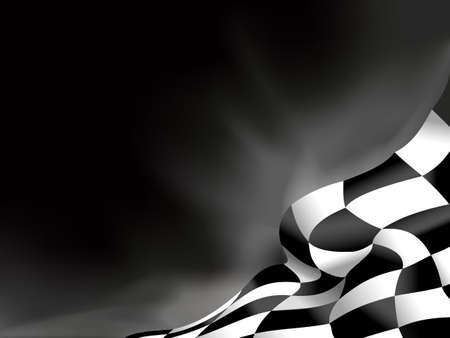 Illustration pour race flag  background vector illustration - image libre de droit