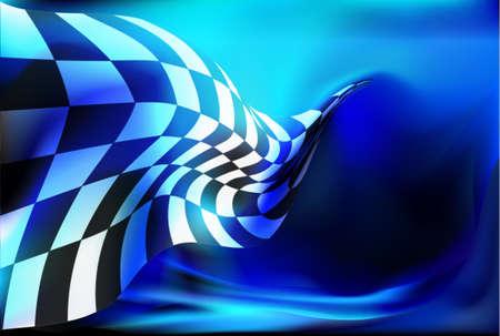 Illustration pour race, checkered flag background vector - image libre de droit