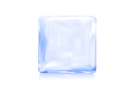 ice block icon vector illustration of frozen block