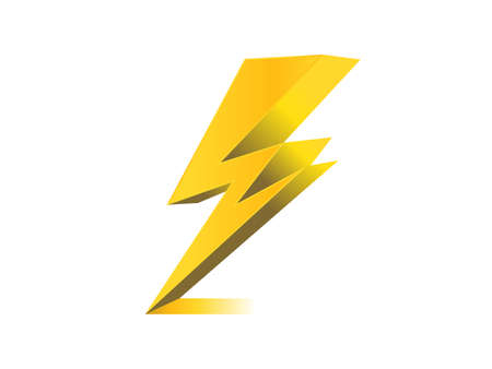 lighting, electric charge icon vector symbol illustration