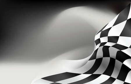 Ilustración de checkered flag background vector race design - Imagen libre de derechos