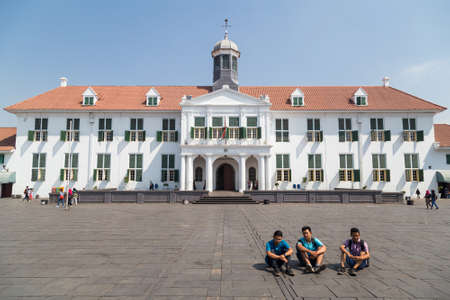 Jakarta, Indonesia - circa October 2015: Jakarta History Museum, formerly Stadhuis in Old Town Jakarta