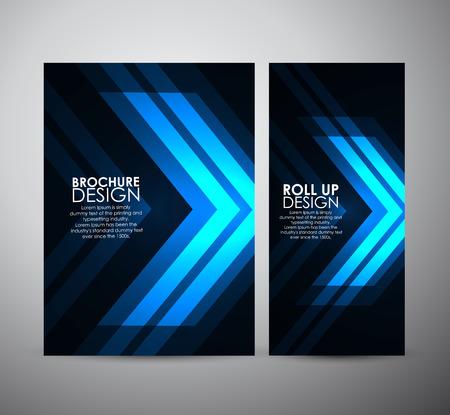 Brochure business design template or roll up. Vector Illustration