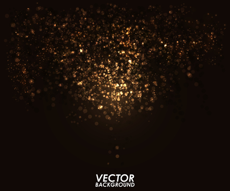 Ilustración de Abstract bokeh digital background. Graphic resources design template. Vector illustration - Imagen libre de derechos