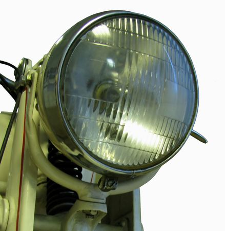 lamp antique motorcycle depicted on a white background