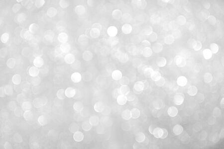 Photo pour Gray sparkle bokeh glitter abstract on background - image libre de droit
