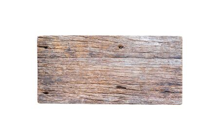 Photo pour Old wood sign texture in horizontal patterns isolated on white background - image libre de droit