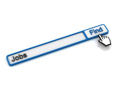 Find jobs on the internet concept