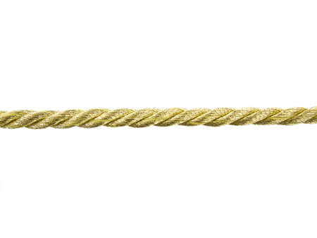 Gold rope on white background
