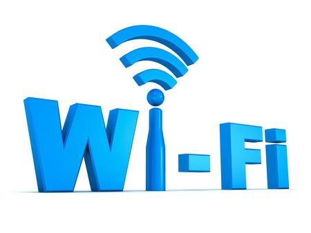 Wifi icon concept isolated on white background