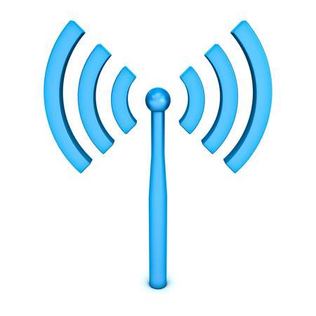 Wifi symbol icon on white background
