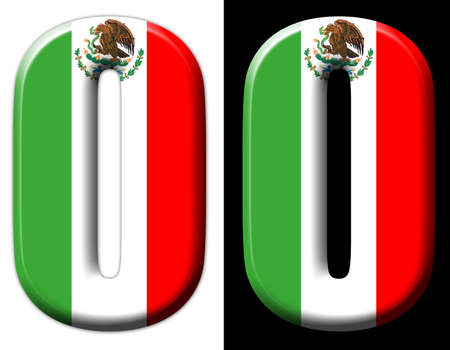 Letter O with the Mexican flag