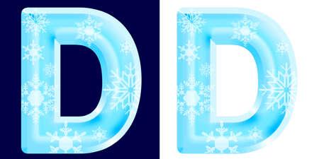 Foto de Winter Alphabet Letter D - Imagen libre de derechos
