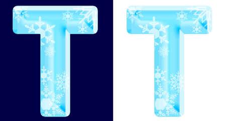 Foto de Winter Alphabet Letter T - Imagen libre de derechos