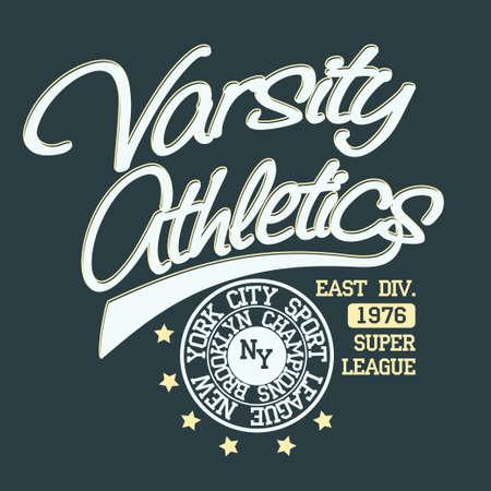 cf35e010 New York Brooklyn Sport wear typography emblem, t-shirt stamp graphics,  vintage tee