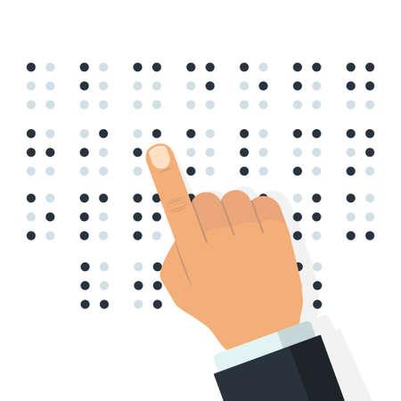 English Braille alphabet. Vector