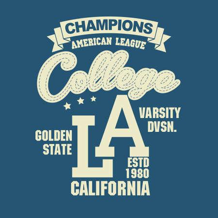 d31ff985 California sport wear T-shirt design. Los Angeles City Typography Graphics.  emblem,