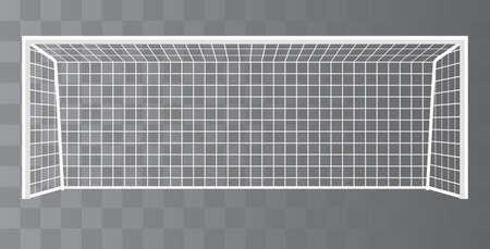 Illustration pour Soccer Goal, Football goalpost with net on a transparent background. Vector - image libre de droit