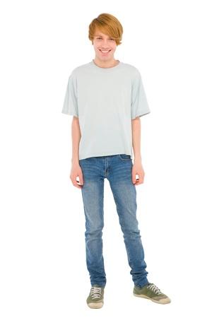 full teenage boy standing