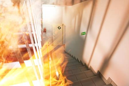 A major fire in a modern building