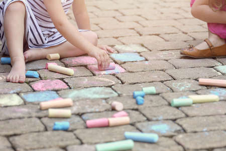 Summer painting chalk