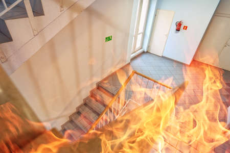 Photo for Fire in the building - Royalty Free Image