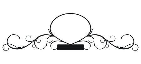 An elegant, curvy, ornate banner