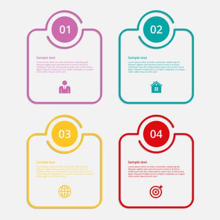 Illustration pour Vector illustration infographics linear squares. Flat design. - image libre de droit