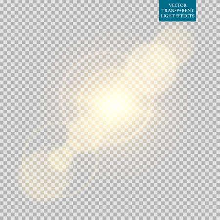 Ilustración de Abstract image of lighting flare set. - Imagen libre de derechos