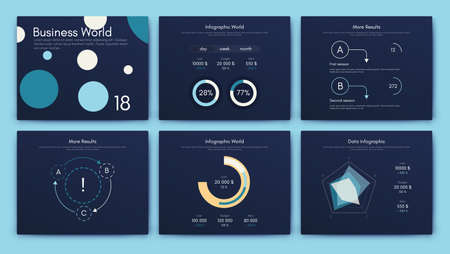 Illustration pour Big set of infographics elements. EPS10. Infographic for brochure, web banner - image libre de droit