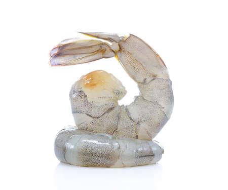 Foto für Fresh shrimps,prawns isolated on white background - Lizenzfreies Bild