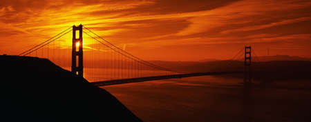 Golden Gate Bridge at Sunrise Wallpaper Mural
