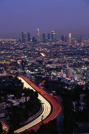 Hollywood Freeway At Dusk Wall Mural