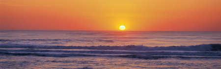 Atlantic Ocean sunset, North