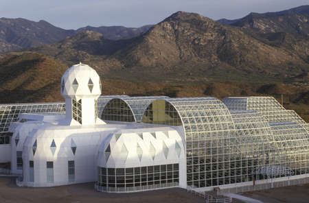 Biosphere 2 living quarters and library at Oracle in Tucson, AZ