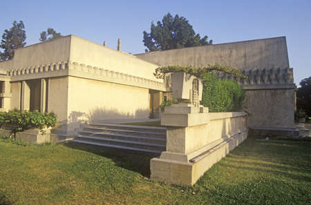 Foto per Frank Lloyd Wright's ÒHollyhock HouseÓ, Los Angeles, California - Immagine Royalty Free