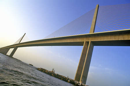 Tampa Sunshine Skyway Bridge, world's longest cable-stayed concrete bridge, Tampa Bay, Florida