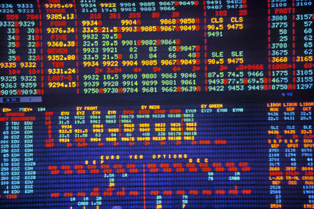 Big Board at the Chicago Mercantile Exchange, Chicago, Illinois
